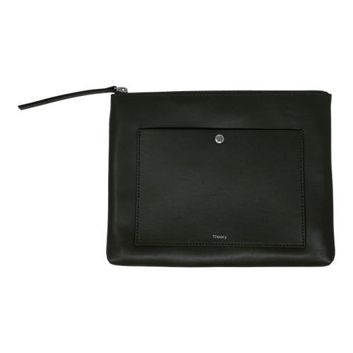Theory Leather Zippered Pouch-Thumbnail