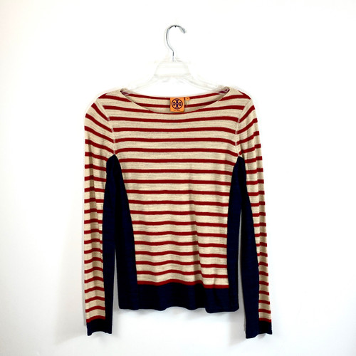 Tory Burch Striped Combination Top- Front