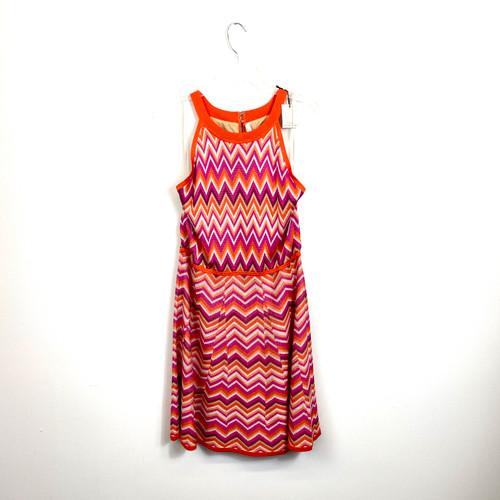 Trina by Trina Turk Knit Chevron Dress- Front