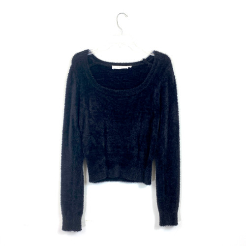 ASTR The Label Fuzzy Scoopneck Sweater- Front