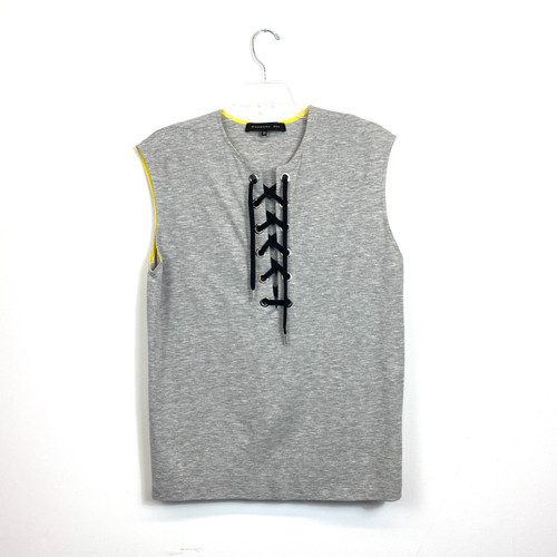 Barbara Bui Lace Up Muscle Tee- Front