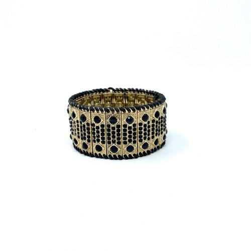 Whipstitched Vertical Tile Bracelet- Front