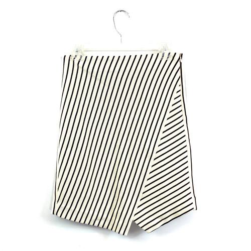 Loft Striped Stretch Skirt- Front