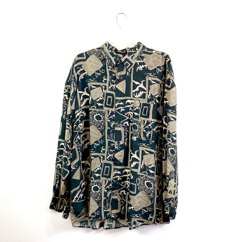 Vintage Summa Abstract Print Shirt- Front