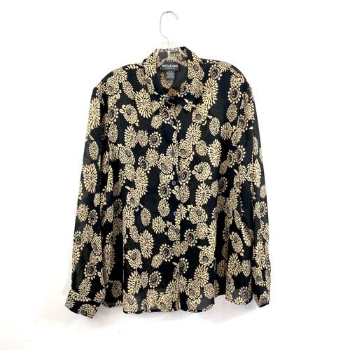 Vintage Sheer Floral Shirt- Front