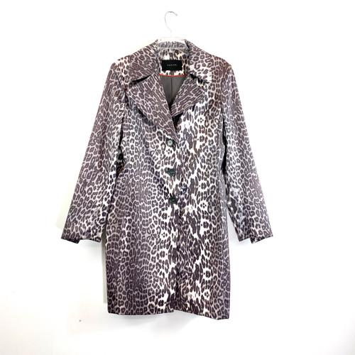Tahari Monochrome Leopard Rain Coat- Front
