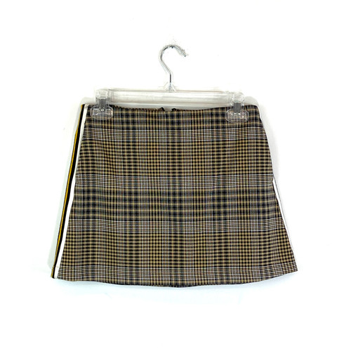 Urban Outfitters Plaid Racing Stripe Mini Skirt- Front