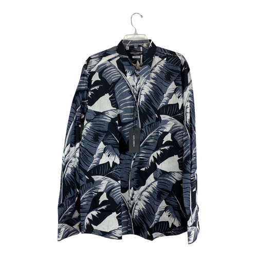 Dolce & Gabbana Banana Leaf Button Up Shirt-Thumbnail