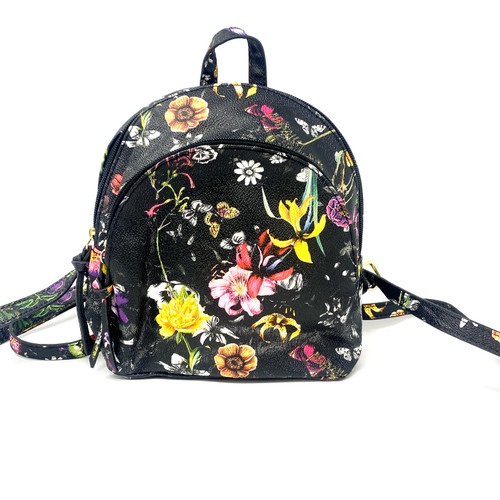 Floral Print Mini Backpack- Front