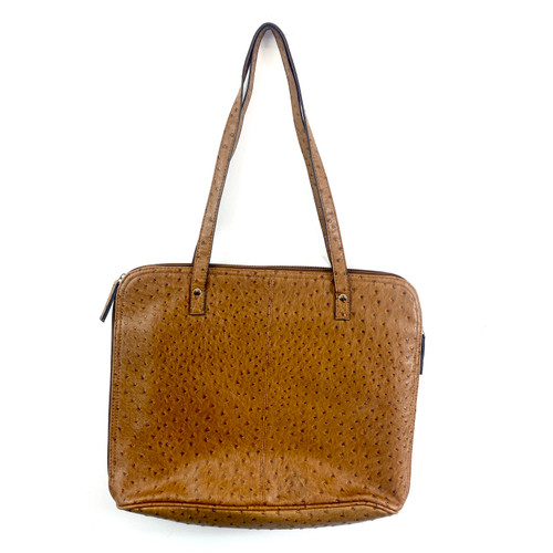 Embossed Zippered Tote Bag- Front