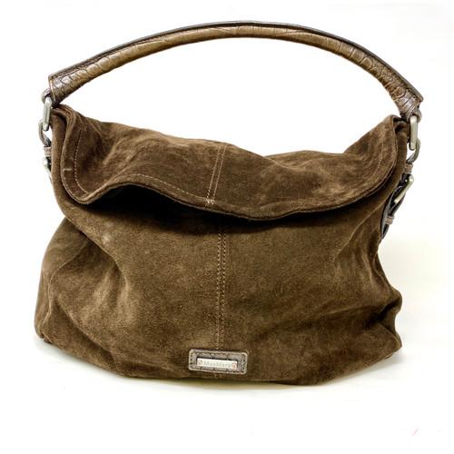 MaxMara Suede Foldover Shoulder Bag- Top