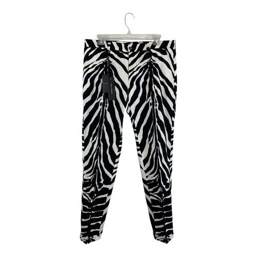 Dolce & Gabbana Zebra Print Trousers-Thumbnail