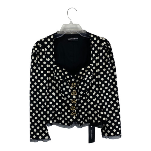 Dolce & Gabbana Cropped Polka Dot Jacket-Thumbnail