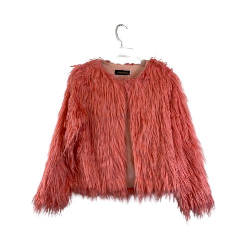 Lanshifei Shaggy Faux Fur Coat- Front