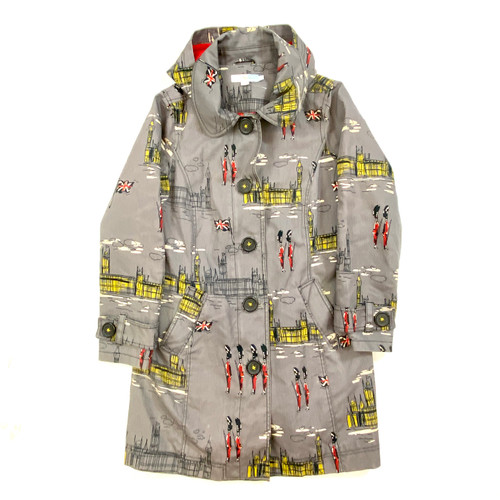 Boden Buckingham Palace Printed Coat- Front