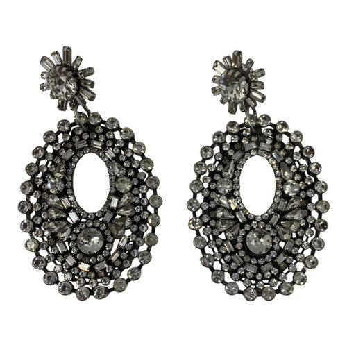 Open Drop Chandelier Earrings-Front