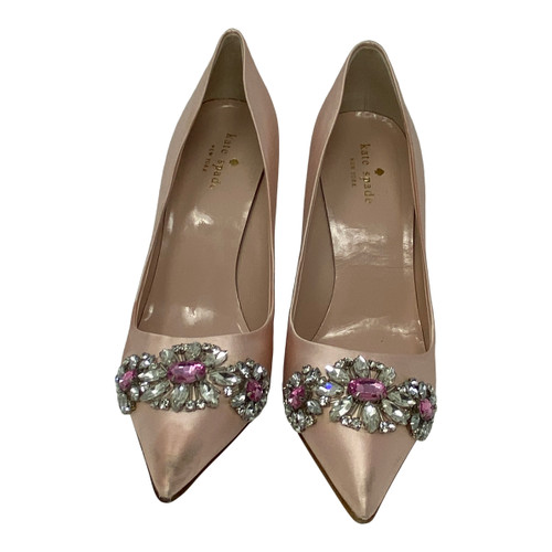 Kate Spade Embellished Satin Pump-Front