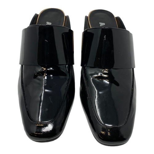 Aska Open Back Heeled Loafers-Front