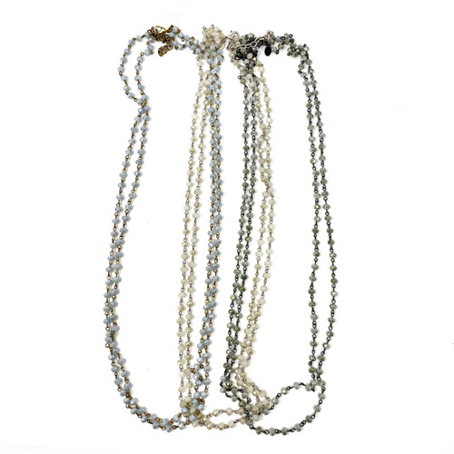 Joan Rivers Faceted Bead Double Chain Necklace- Thumbnail