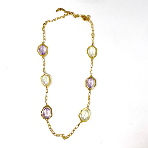 Joan Rivers Framed Stone Statement Necklace- Front