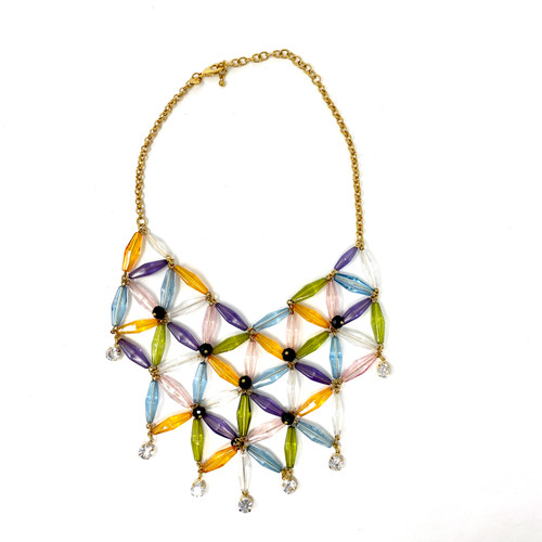 Joan Rivers Beaded Lattice Necklace- Front