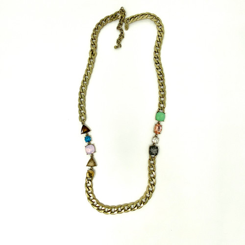 LOGO by Lori Goldstein Chained Gems Necklace- Front