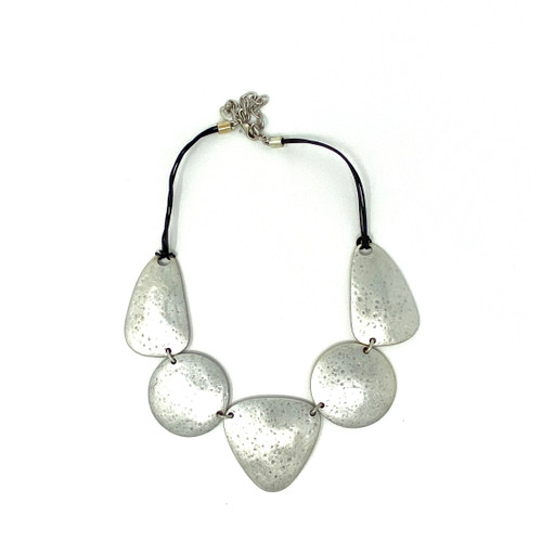 Joan Rivers Skipping Stone Statement Necklace- Front
