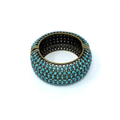 Joan Rivers Rounded Rhinestone Cuff- Front