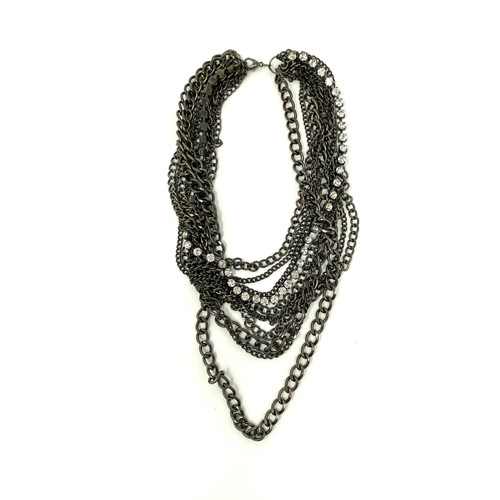 Layered Chain Necklace- Front