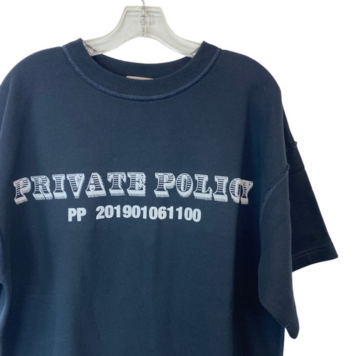 Private Policy Sweatshirt Tee-Logo