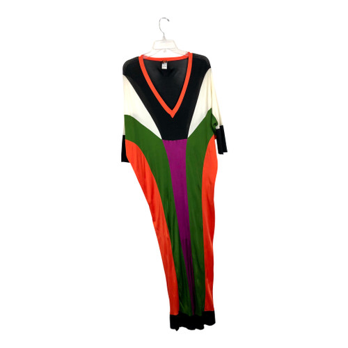 Jean Paul Gaultier Color Block Maxi Dress-Full Front