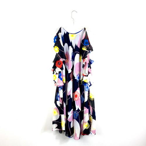 Cesar Galindo Ruffle Flower Dress- Front