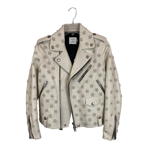 Coach & Rodarte Leather Moto Jacket-Front