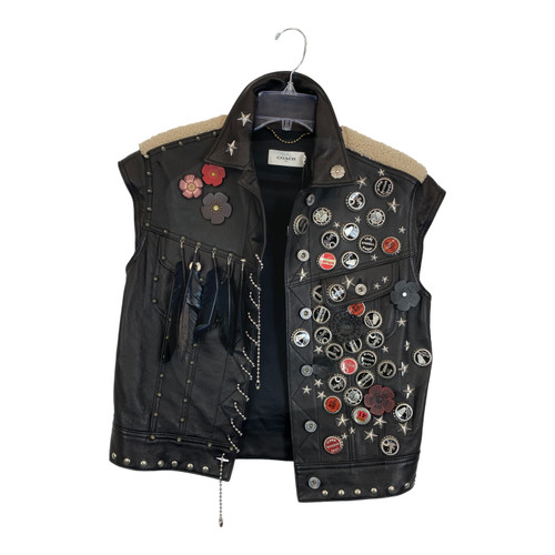 Coach Leather Vest-Front