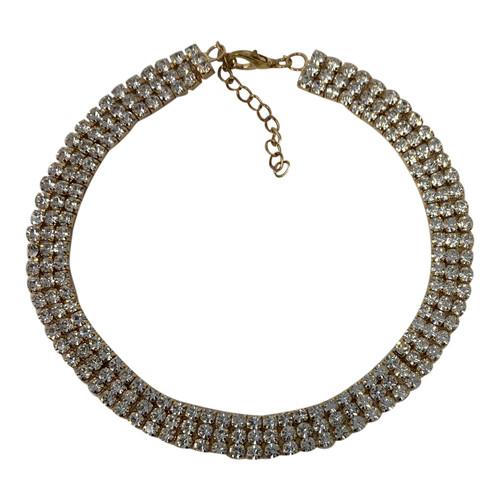 Rhinestone Double-Wrap Bracelet- Front