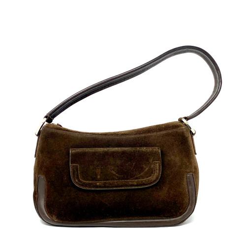 Giorgio Armani Vintage Suede Shoulder Bag- Front