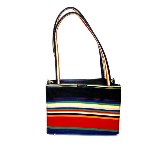 Kate Spade Striped 90's Box Tote- Front