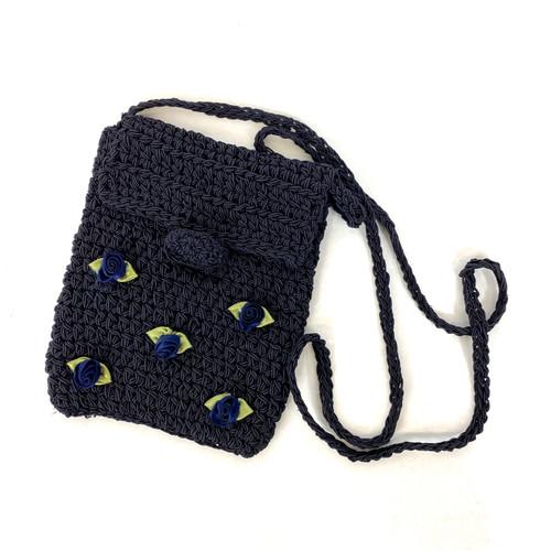 Saks Rosette Crochet Crossbody Bag- Thumbnail