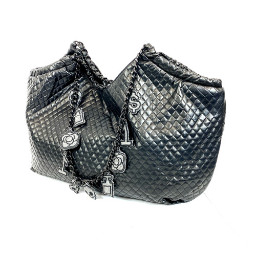 Ca$hmere Quilted Leather Hobo- Front
