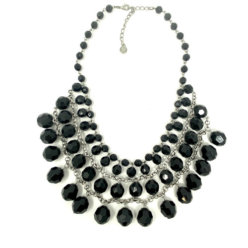 Faceted Stone Banded Collar- Front