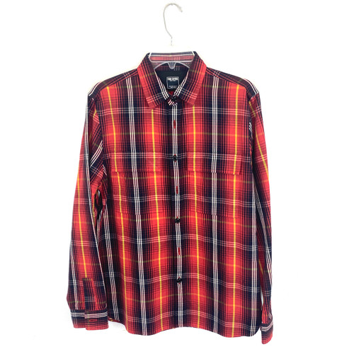 Todd Snyder Flap Pocket Plaid Shirt- Front