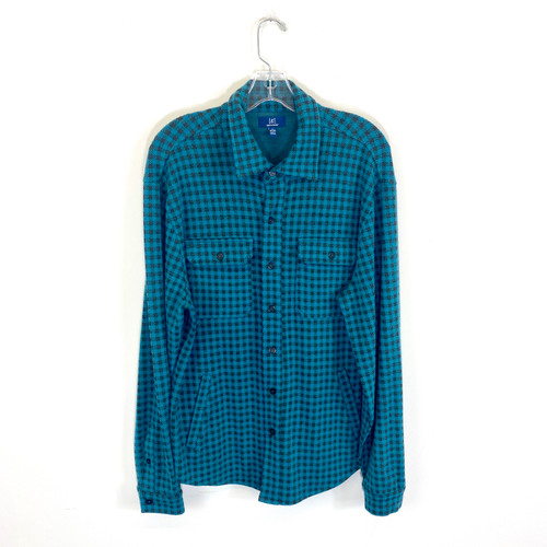 George Flannel Herringbone Overshirt- Front
