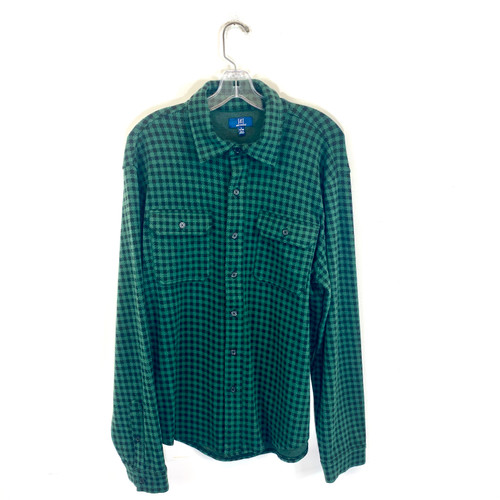 George Flannel Herringbone Shirt- Front
