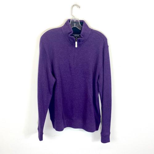 Lands' End Cotton Quarter Zip Sweater- Front
