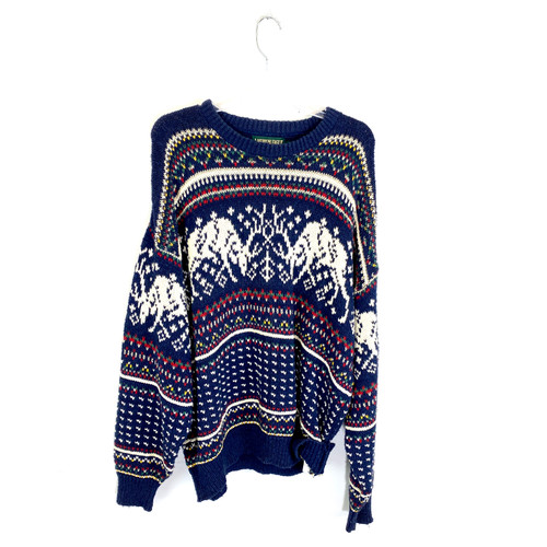 Vintage American Eagle Outfitters Knit Moose Pullover- Front