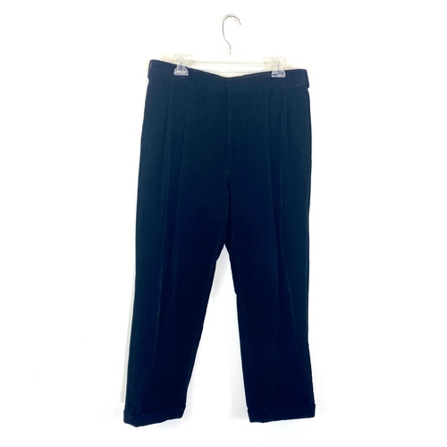 Ralph Lauren Purple Label Pleated Corduroy Pants- Front