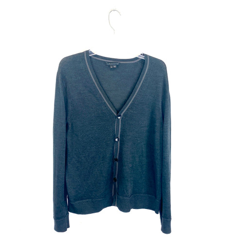 Theory Silk Pointelle Cardigan- Front