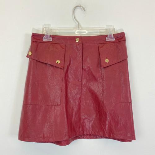 Zara Faux Leather Mini Skirt- Front