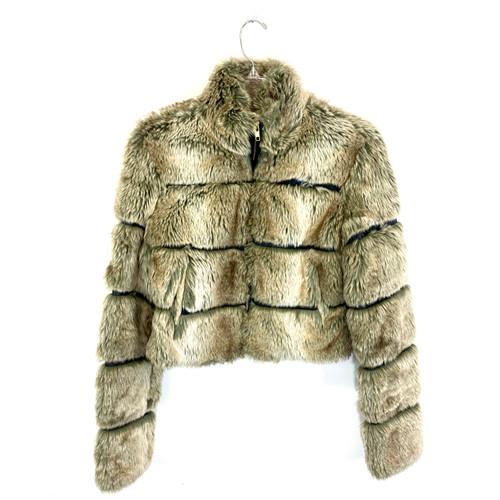Faux Fur Channeled Jacket- Front
