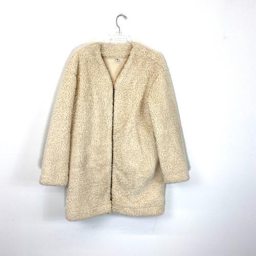 Uniqlo Teddy Fleece Zipped Coat- Front